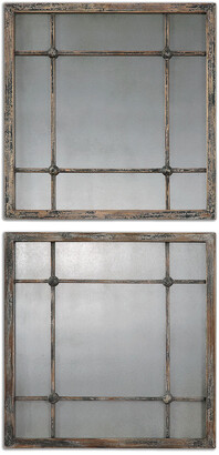 Uttermost Set Of 2 Saragano Square Mirrors