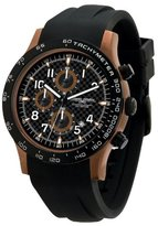 Jorg Gray JG2000-11 Chronograph Dial Bronze Finish Rubber Strap Men's Watch