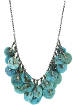 Ten Thousand Things Round Turquoise Stirrup Necklace