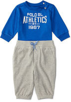 Ralph Lauren Cotton Graphic Tee & Pant Set