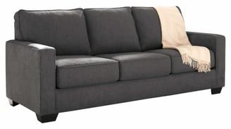 Signature Design by Ashley Zeb Contemporary Microfiber Sleeper Sofa - Queen Size Mattress - Charcoal
