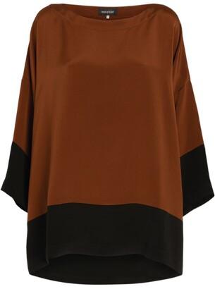eskandar Silk Contrast-Trim Blouse