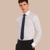 Burberry Modern Fit Double-cuff Puppy Tooth Cotton Poplin Shirt