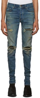 Amiri Indigo and Black MX1 Jeans