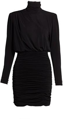 Cinq à Sept Isla Ruched Jersey Mini Dress