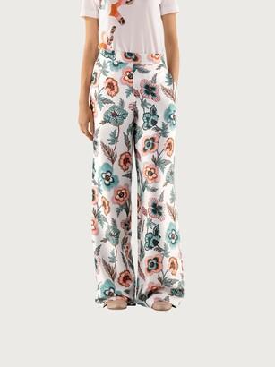 Salvatore Ferragamo Women Silk pajama trousers Multicolor