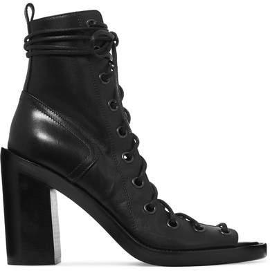 Ann Demeulemeester 绑带式皮革踝靴
