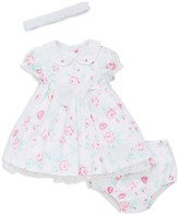 Little Me Girls' Floral Dress, Bloomers & Headband Set - Baby