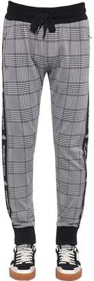 Dolce & Gabbana Cotton Blend Houndstooth Jogging Pants