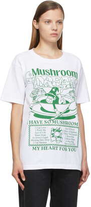 Online Ceramics White 'Mushroom' T-Shirt