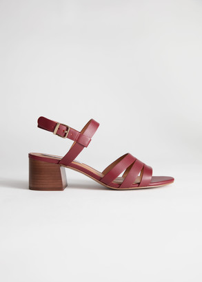 And other stories Trio Strap Heeled Sandals