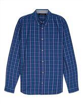 Indigo Windowpane Check Shirt