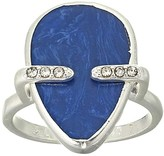 Lucky Brand Lapis Stone Statement Ring (Silver) Ring