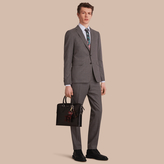 Burberry Slim Fit Wool Flannel Suit , Size: 50r, Grey