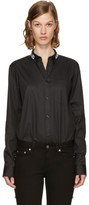 Givenchy - Chemise noire 'Real Eyes'