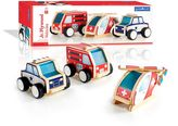 Guidecraft Jr. Plywood 3-pc. Community Vehicles Set
