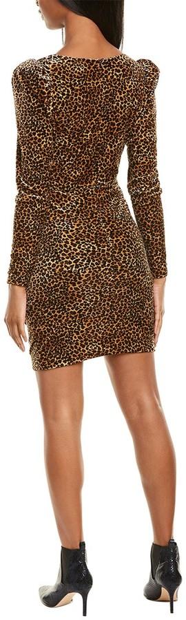 Thumbnail for your product : Nicole Miller Leopard Velvet Sheath Dress