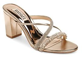Badgley Mischka Women's Zoraya Slip On Strappy Sandals