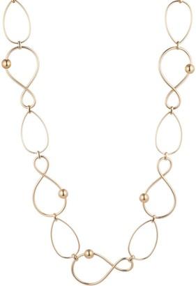 Trina Turk Golden Wave Twisted Link Necklace