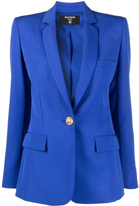 Balmain Fitted Button-Front Blazer
