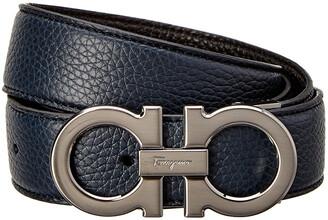 Salvatore Ferragamo Double Gancio Buckle Reversible & Adjustable Leather Belt