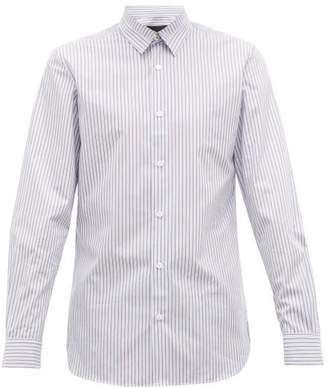 Stella McCartney Robert Striped Cotton-poplin Shirt - Mens - Blue