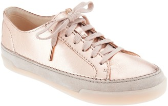 Clarks Artisan Leather Lace-Up Sneakers - Hidi Holly