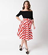 Striped High Waisted Skirt - ShopStyle