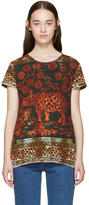 Valentino Orange and Green Rhino T-Shirt