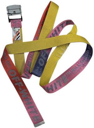 Off-White Pink Cloth Belts