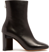 Maison Margiela Cut-out block-heel leather ankle boots