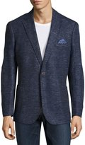 English Laundry Two-Button Knit Blazer, Blue