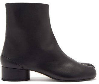 Maison Margiela Tabi Split-toe Leather Ankle Boots - Black