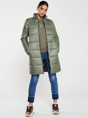 BOSS Casual Long 2-in-1 Parka Coat with Detachable Hood - Khaki