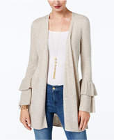 INC International Concepts Anna Sui Loves Petite Ruffle-Sleeve Cardigan, Created for Macy's