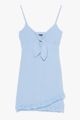 Nasty Gal Womens Tie Candy Ruffle Mini Dress - Sky
