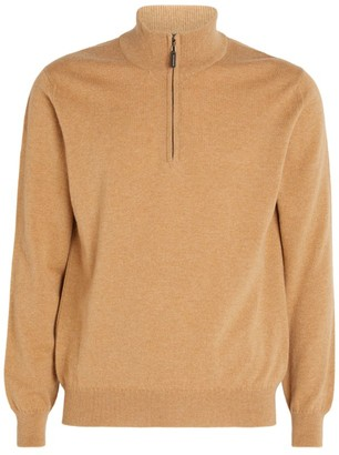 Johnstons of Elgin Half-Zip Cashmere Sweater