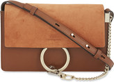 Chloé Faye small leather suede clutch