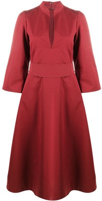Jil Sander belted A-line maxi dress