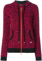 Twin-Set leopard zipper hoodie - women - Cotton/Polyester/Spandex/Elastane - 42