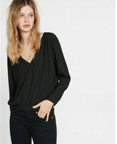 Express open back chain drape blouse