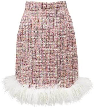 Huishan Zhang Feather-Trim Malin Skirt