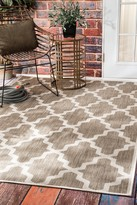 nuLoom Gina Outdoor Moroccan Trellis Rug - Taupe