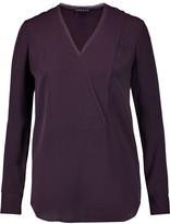 Theory Ramalla wrap-effect silk blouse