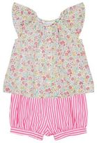 Polo Ralph Lauren Floral Top and Stripe Shorts Set