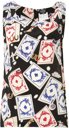 Chanel Pre Owned Playing Card Print Vest