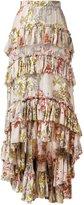Philosophy Di Lorenzo Serafini - asymmetric ruffle skirt - women - Silk/Cotton - 40