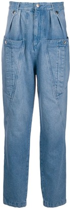Isabel Marant High Rise Oversize Pocket Jeans