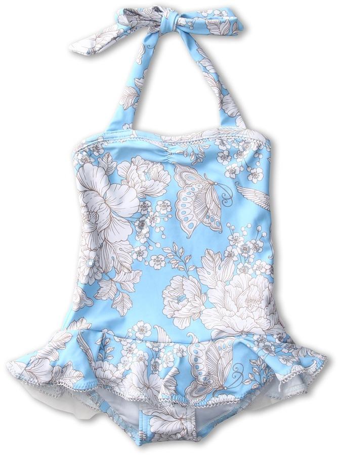 Seafolly Powder Room Ballerina Tank (Infant/Toddler/Little Kids) (Ballet Blue) - Apparel