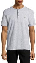 Lacoste Regular-Fit Short Sleeve Pique Henley